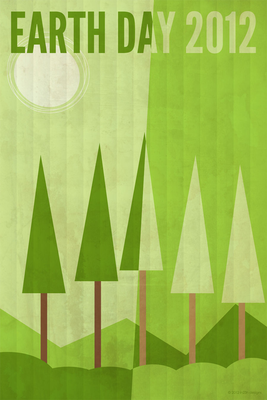 Poster 008 – Earth Day 2012 - in23h designs for Simple Poster Design Inspiration  181pct