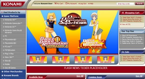 Konami Website 2006 Redesign
